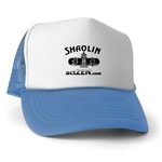American Zen Trucker Hat Black and White