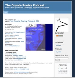 Screenshot of podcast